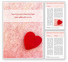 Holiday/Special Occasion: Heart on Pink Background Word Template #15442