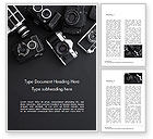 Careers/Industry: Retro Camera's Word Template #15446