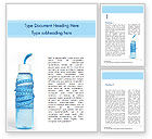 Careers/Industry: Plastic Bottle and Measuring Tape Word Template #15451
