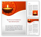 Holiday/Special Occasion: Modelo do Word - diwali #15455