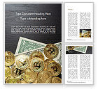 Financial/Accounting: Bitcoins En Dollars Word Template #15456