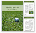 Sports: Golf Ball on Grass Word Template #15464