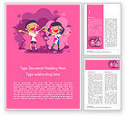 Holiday/Special Occasion: Kids on the Holi Festival Word Template #15473