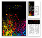 Abstract/Textures: Colorful Powder Paint Splash Word Template #15477