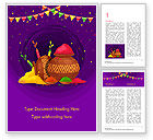 Holiday/Special Occasion: Holi Festival Jugs Word Template #15482
