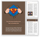 Financial/Accounting: Superman Symbol on Chest Word Template #15488