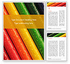 Education & Training: Colored Pencils with Water Drops Word Template #15492