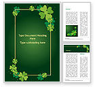 Abstract/Textures: Frame with Irish Theme Word Template #15495