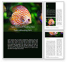 Nature & Environment: Discus Fish Word Template #15506