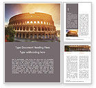 Construction: The Ancient Roman Colosseum Word Template #15508
