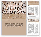 Medical: Mental Health Wooden Cubes Word Template #15514