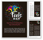 Holiday/Special Occasion: Fools Day Background with Jester's Hat Word Template #15519