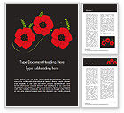 Holiday/Special Occasion: Anzac Day Word Template #15523
