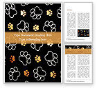 Abstract/Textures: Paw Prints Word Template #15526