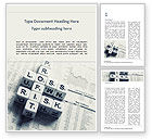 Business Concepts: Profit Loss and Risk Crossword Blocks on Table Word Template #15537