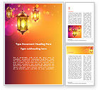 Holiday/Special Occasion: Lanterns for Ramadan Word Template #15550