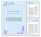 Abstract/Textures: Delicate Frame with Butterflies Word Template #15556
