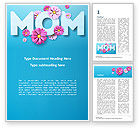Holiday/Special Occasion: Mom Greeting Word Template #15560