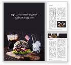 Food & Beverage: Burger with a Black Bun Word Template #15568