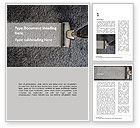 Careers/Industry: Top View of Carpet and Vacuum Cleaner Brush Word Template #15575