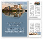 Construction: Landscape of Singapore Word Template #15590