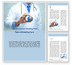 Medical: Doctor Holding World Globe Word Template #15591