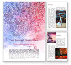 Abstract/Textures: Pink and Blue Mandala Flower Presentation Template #15594