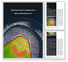 Sports: Baseball Stadium Word Template #15596