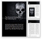 Military: Punisher skull Word Template #15615