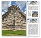 3D: Mesoamerikanische pyramide Word Vorlage #15617