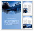 Nature & Environment: Magnificent Winter Landscape Word Template #15626