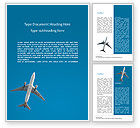 Cars/Transportation: Passenger Plane Word Template #15632