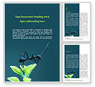 Nature & Environment: Black Ant Word Template #15638