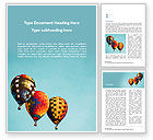 Careers/Industry: Hot Air Balloon Flights Word Template #15645