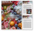 Food & Beverage: Summer Fruits and Vegetables Word Template #15649