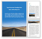 Nature & Environment: Open Road Word Template #15651