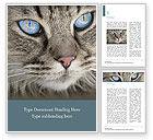 Nature & Environment: Siberian Cat Word Template #15653