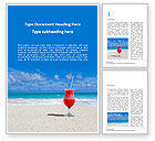 Holiday/Special Occasion: Vacation by the Sea Word Template #15656
