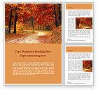 Nature & Environment: Schöner herbstlicher wald Word Vorlage #15660