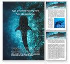 Nature & Environment: 鲸鲨Word模板 #15666
