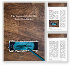Careers/Industry: Wood Floor Cleaning with Mop Word Template #15673