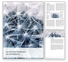 Nature & Environment: Closeup Photo of White Dandelion Flower Word Template #15682
