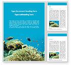 Nature & Environment: Unterwasserfoto des korallenriffs Word Vorlage #15685