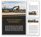 Construction: Road Construction Machinery Word Template #15689
