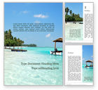 Nature & Environment: The Maldives Word Template #15695