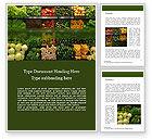 Food & Beverage: Vegetable Shop Word Template #15714