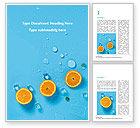 Food & Beverage: Sommerhintergrund mit orangen Kostenlose Word Vorlage #15722