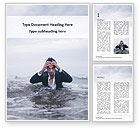 People: Handsome Man Coming out of the Sea Word Template #15726