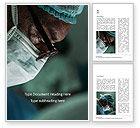 Medical: Plantilla de Word gratis - cara de cirujano #15727