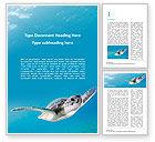 Nature & Environment: Meeresschildkröte Kostenlose Word Vorlage #15731